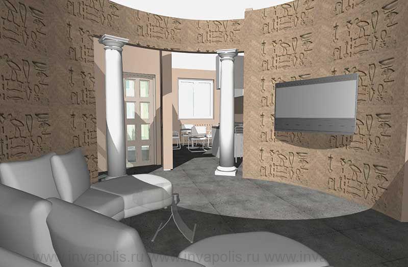 Архитектурно-дизайнеркое оформление разных помещений интерьеров квартир и загородных домов