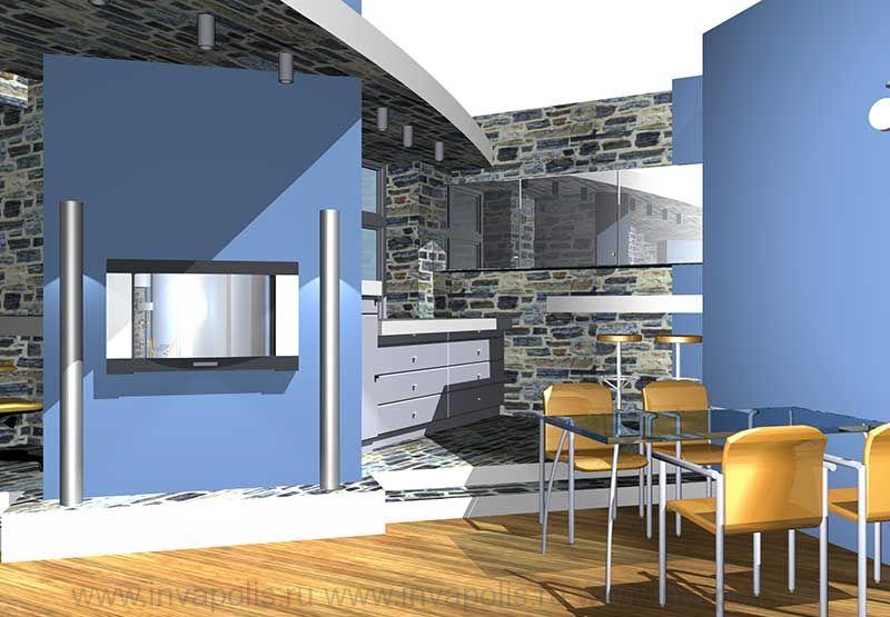 Гостиная в интерьере небольшой типовой трехкомнатной реконструированной квартиры В ОСТАНКИНО