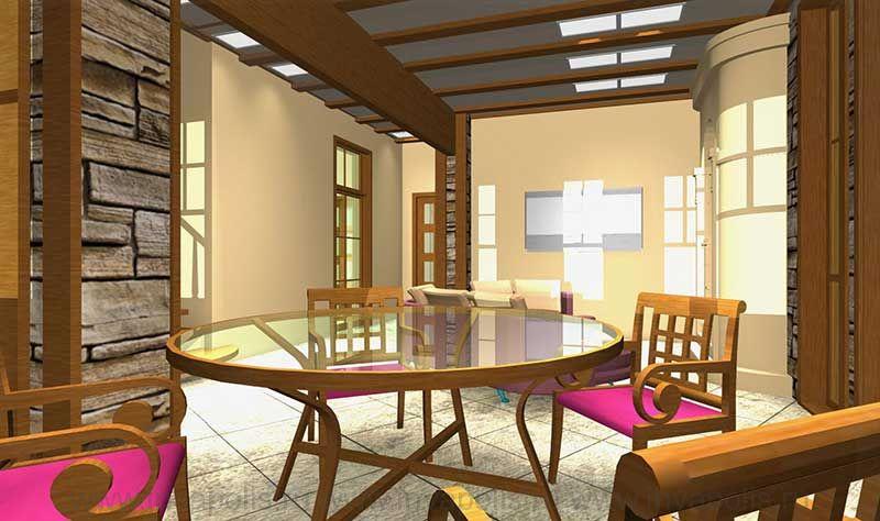 Гостиная в стиле шале в интерьерах дома ТИРОЛЬ