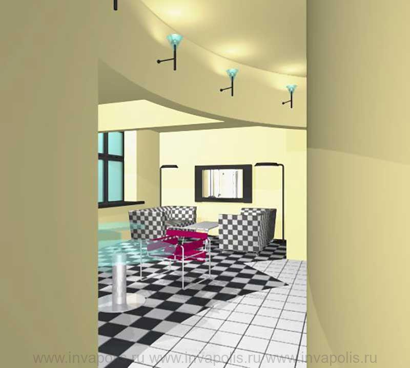 Гостиная-диванная в стиле авангард в интерьерах трехкомнатной квартиры В ОСТАНКИНО