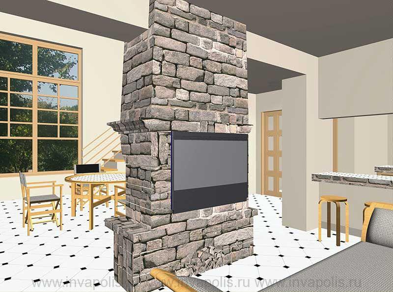Диванная и гостиная в интерьерах жилого дома БУНГАЛО