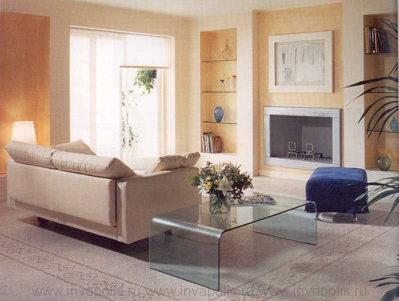 Гостиная-диванная в интерьере шестикомнатной квартиры  НА СМОЛЕНСКОЙ