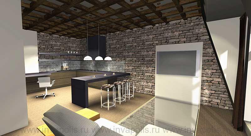 Кухня в интерьерах двухуровневой квартиры. КОНКУРС NEUHAUS