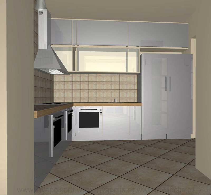 Кухня в интерьерах реконструированного дома НА НОВОРИЖСКОМ