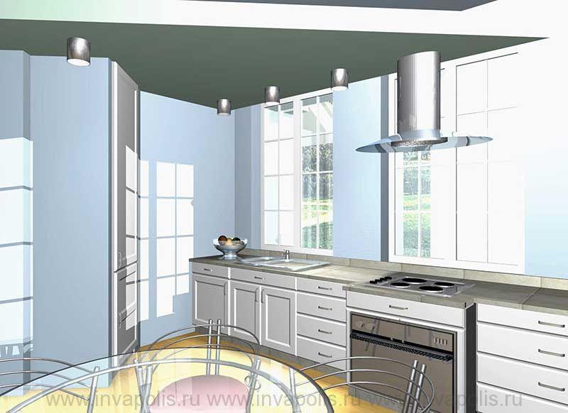 Кухня в интерьере дома КОМФОРТ