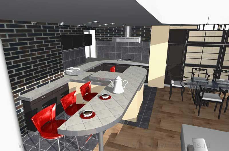 Кухня в интерьере квартиры В СТУПИНО