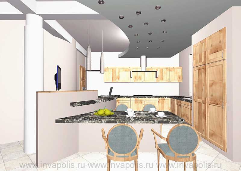 Кухня-столовая в интерьерах особняка В СТУПИНО