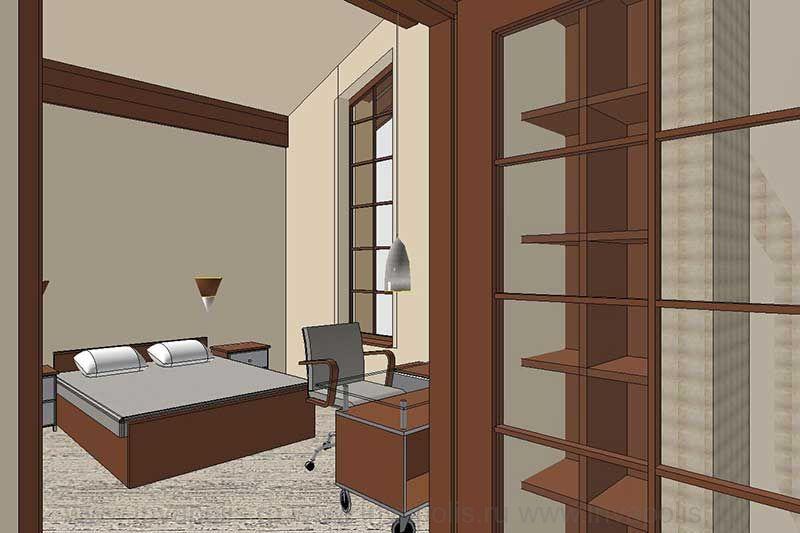 Детская спальня на третьем уровне дома спирали ЯНТАРЬ