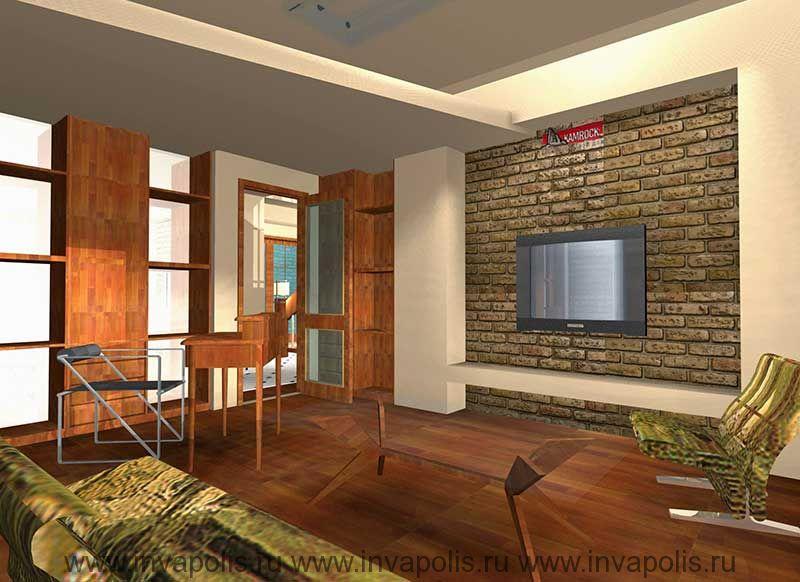 Двухуровневые потолки со встроенныси светильниками в проекте интерьеров особняка  ГИЛЬДИЯ