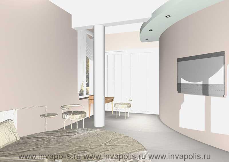 Двухуровневый подвесной потолок для встраивания освещения и монтажа оборудования кондиционеров в проекте интерьеров особняка в СТУПИНО