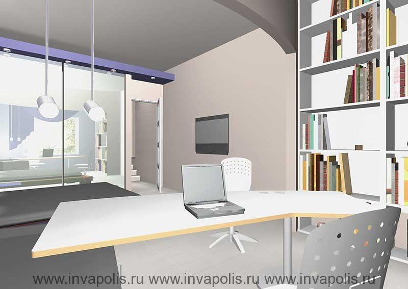 Зеркальная стенка в спальне увеличивающая ее пространство. Интерьеры особняка     в СТУПИНО
