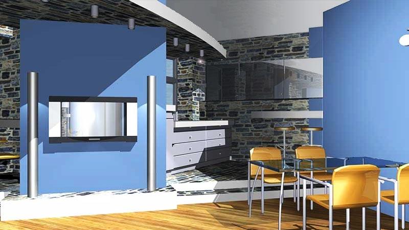 Лофт - стиль интерьеров квартиры В ОСТАНКИНО -  в едином пространстве лоджия, диванная, кухня, столовая