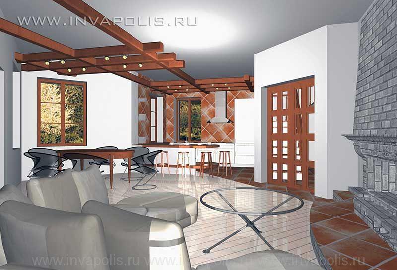 Лофт- стиль интерьеров дома ЕВРОПЕЙСКИЙ - в едином пространстве каминная, гостиная, кухня, барная стойка