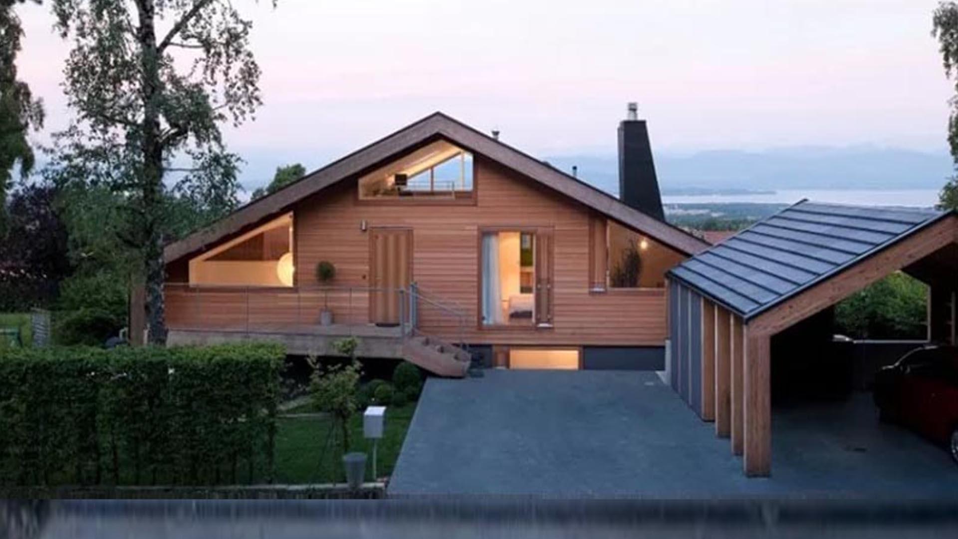 Современная трактовка деревянной архитектуры в проекте одноэтажного дома в голландии