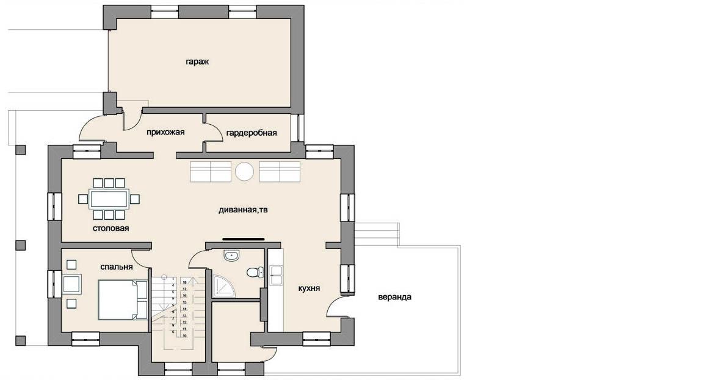 Старый дом. План 1-го этажа