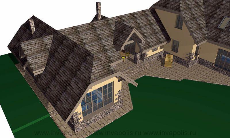 Монтаж финишного покрытия конструкции крыши