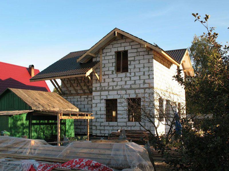 ДО переустройства - площадь недостроенного дома в Петушках 100м2.
