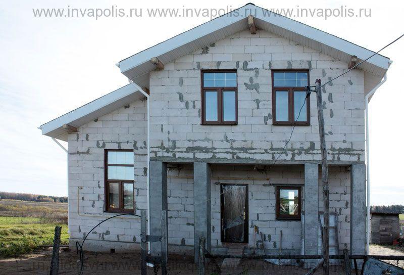 ДО перестройки площадь недостроенного в Сергиевом посаде коттеджа 110м2.