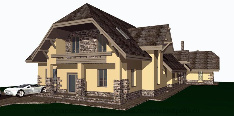 Вариант реконструкции дома в стиле ШАЛЕ