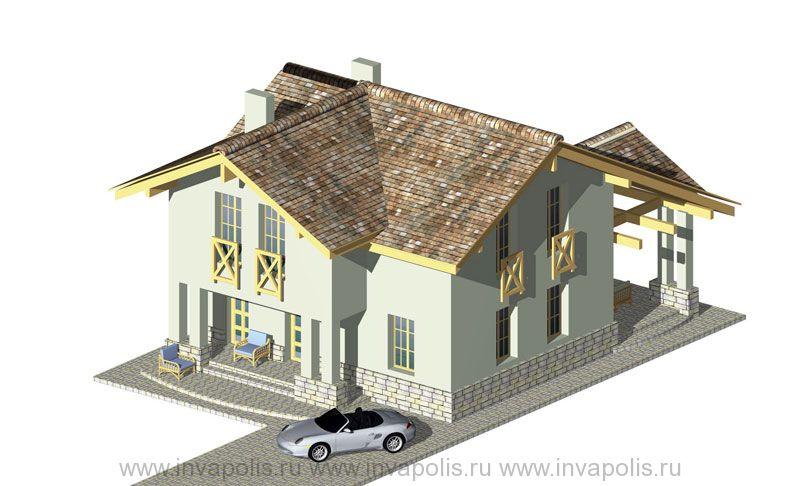 Стилевая основа проекта усадьбы - проект жилого дома КАНТРИ