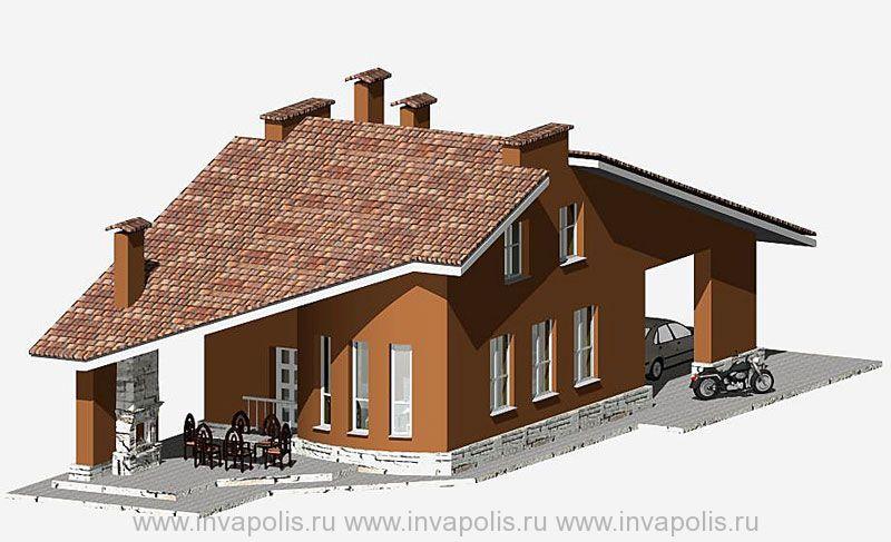 Стилевая основа проекта усадьбы -жилой дом УЗКИЙ